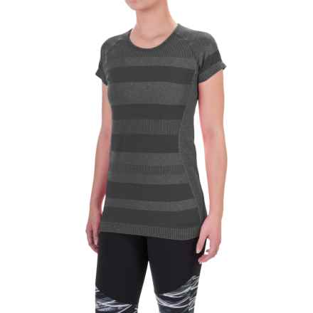 Brooks Streaker Shirt - UPF 30+, Short Sleeve (For Women) in Heather Black - Closeouts