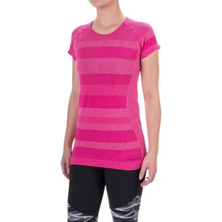 Brooks Streaker Shirt - UPF 30+, Short Sleeve (For Women) in Heather Bloom - Closeouts
