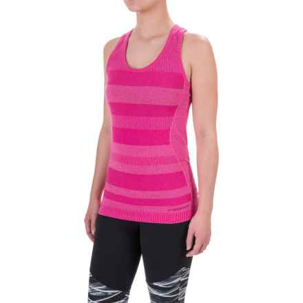 Brooks Streaker Tank Top - UPF 30+, Racerback For Women) in Heather Bloom - Closeouts
