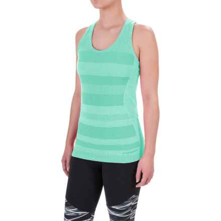Brooks Streaker Tank Top - UPF 30+, Racerback For Women) in Heather Surf - Closeouts
