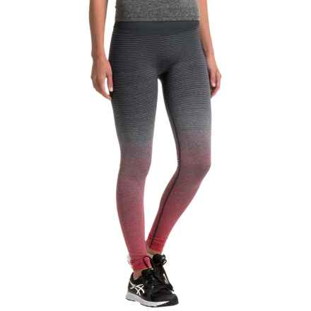 Brooks Streaker Tights (For Women) in Poppy/Asphalt - Closeouts