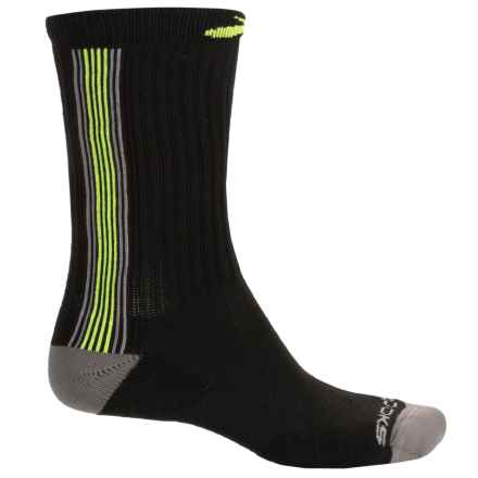 Brooks Surge Crew Socks (For Men and Women) in Black/Nightlife - Closeouts