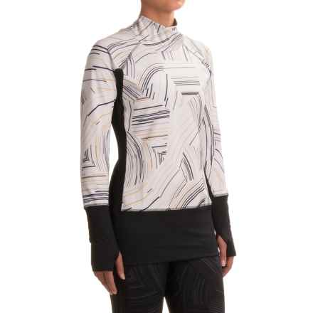 Brooks Threshold Shirt - Long Sleeve (For Women) in White Cosmo/Black - Closeouts
