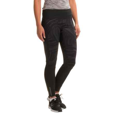Brooks Threshold Tights (For Women) in Black Cosmo/Black - Closeouts