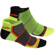 Brooks Training Day Mesh Socks - 2-Pack, Below the Ankle (For Men and Women) in Yellow/Black - Closeouts