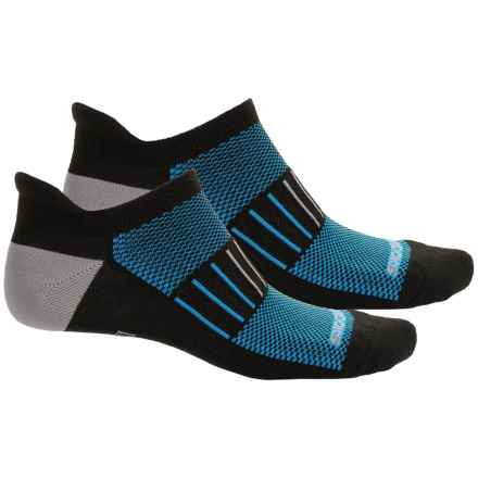 Brooks Training Day Tab Lite Socks - 2-Pack, Below the Ankle (For Men and Women) in Black/Brooks Blue/Grey - Closeouts