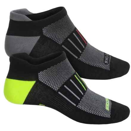 Brooks Training Day Tab Lite Socks - 2-Pack, Below the Ankle (For Men and Women) in Black/Gail Grey/Black/Neon Yellow - Closeouts