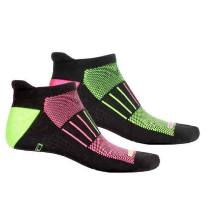 Brooks Training Day Tab Lite Socks - 2-Pack, Below the Ankle (For Men and Women) in Black/Yellow Black/Pink - Closeouts