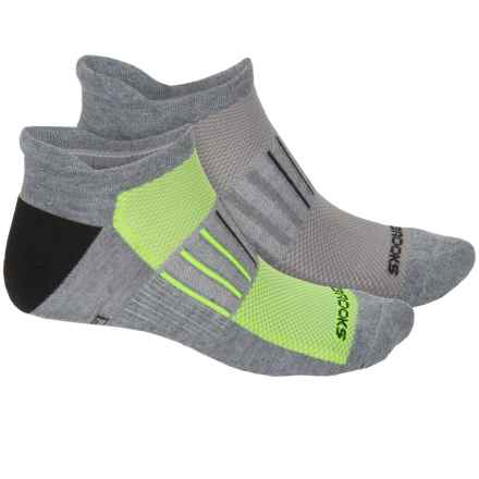 Brooks Training Day Tab Lite Socks - 2-Pack, Below the Ankle (For Men and Women) in Yellow/Black - Closeouts