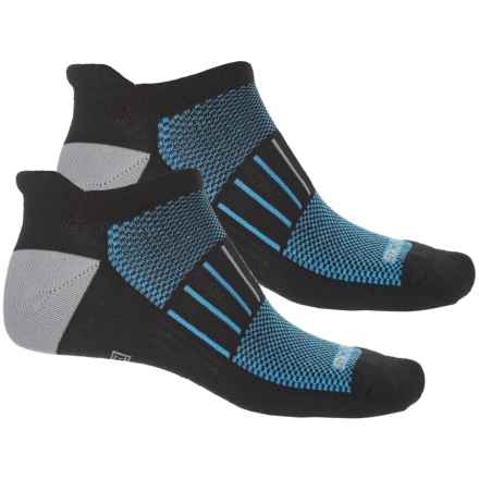 Brooks Training Day Tab Socks - 2-Pack, Below the Ankle (For Men and Women) in Black/Brooks Blue/Grey - Closeouts