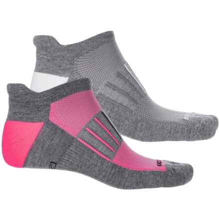 Brooks Training Day Tab Socks - 2-Pack, Below the Ankle (For Men and Women) in Grey/Pink/White - Closeouts