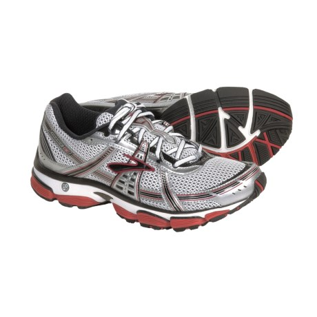 Brooks Trance 9 Running Shoes (For Men) in Silver/White/Black/Cardinal