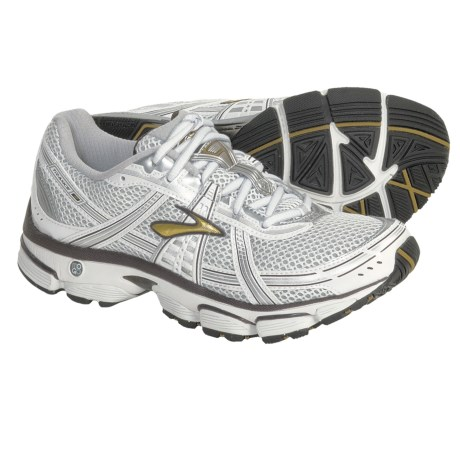 Brooks Trance 9 Running Shoes (For Women) in Pearl White/Silver/Chocolate/Gold