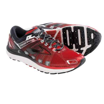 Brooks Transcend 2 Running Shoes (For Men) in High Risk Red/Black/White - Closeouts