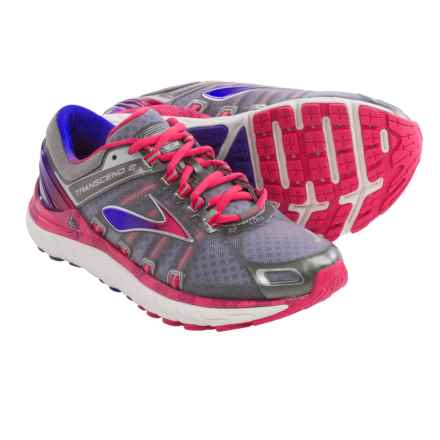 Brooks Transcend 2 Running Shoes (For Women) in Metallic Charcoal/Raspberry - Closeouts