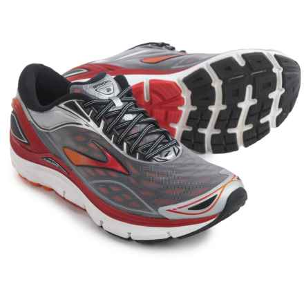 Brooks Transcend 3 Running Shoes (For Men) in Silver/Orange Popsicle/High Risk Red - Closeouts