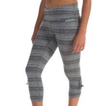 Brooks Urban Running Capris (For Women) in Black Jacquard - Closeouts