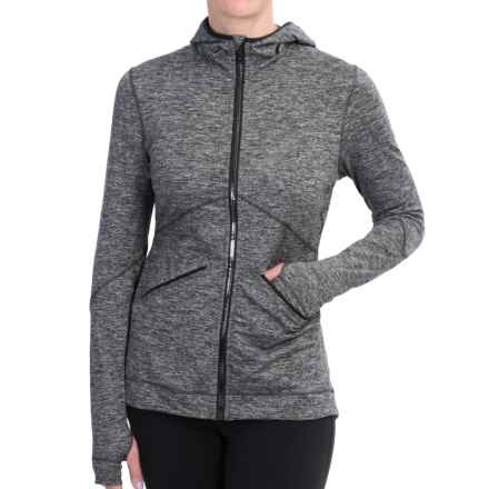 Brooks Utopia Thermal III Hoodie (For Women) in Heather Black - Closeouts