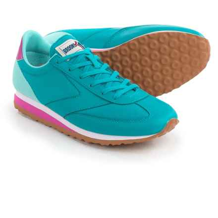 Brooks Vanguard Sneakers - Leather (For Women) in Capri Breeze/Blue/White - Closeouts