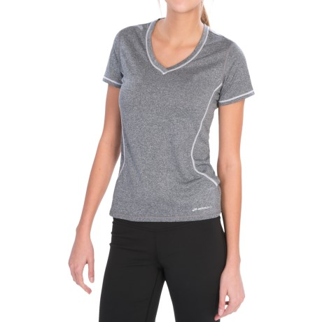 Brooks Versatile EZ T-Shirt - Short Sleeve (For Women) in Heather Anthracite