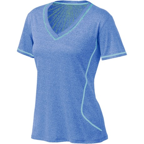 Brooks Versatile EZ T-Shirt - Short Sleeve (For Women) in Heather Neptune