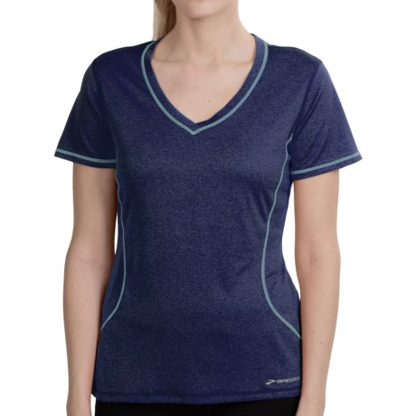 Brooks Versatile EZ T-Shirt - Short Sleeve (For Women) in Midnight/Helium
