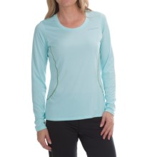 Brooks Versatile III Printed T-Shirt - Long Sleeve (For Women) in Heather Breeze - Closeouts