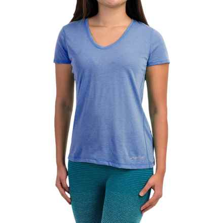 Brooks Versatile IV Printed T-Shirt - Short Sleeve (For Women) in Heather Cornflower - Closeouts