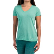 Brooks Versatile IV Printed T-Shirt - Short Sleeve (For Women) in Heather Lagoon - Closeouts