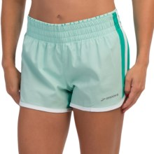 "Brooks Versatile Low Rise Shorts - 3.5"", Built-In Briefs (For Women) in Glass/Lagoon - Closeouts"