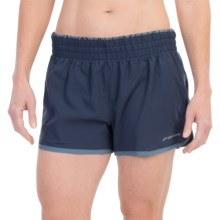 "Brooks Versatile Low Rise Shorts - 3.5"", Built-In Briefs (For Women) in Midnight/Storm - Closeouts"