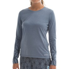Brooks Versatile Printed IV Shirt - Long Sleeve (For Women) in Heather Storm - Closeouts