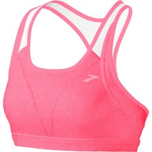 Brooks Versatile Sports Bra (For Women) in Heather Brite Pink/White - Closeouts