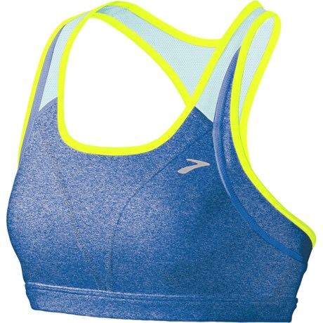 Brooks Versatile Sports Bra (For Women) in Heather Neptune/Seafoam
