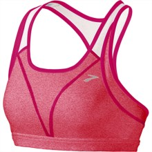 Brooks Versatile Sports Bra (For Women) in Pomegranate/Frost - Closeouts