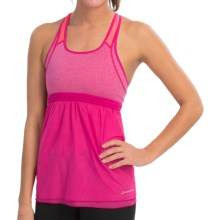 Brooks Versatile Support Tank Top (For Women) in Heather Fuchsia/Poppy - Closeouts