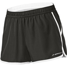"Brooks Versatile Woven Shorts - 3.5"" (For Women) in Black/Frost - Closeouts"