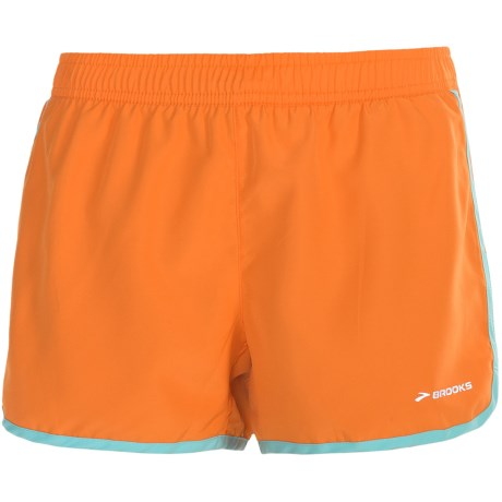 "Brooks Versatile Woven Shorts - 3.5"" (For Women) in Anthracite"