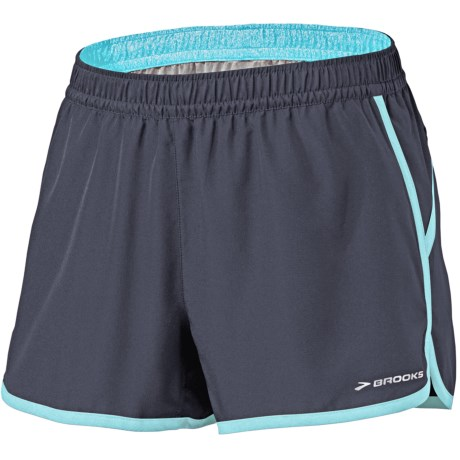 "Brooks Versatile Woven Shorts - 3.5"" (For Women) in Midnight/Helium"