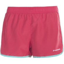 "Brooks Versatile Woven Shorts - 3.5"" (For Women) in Rouge - Closeouts"