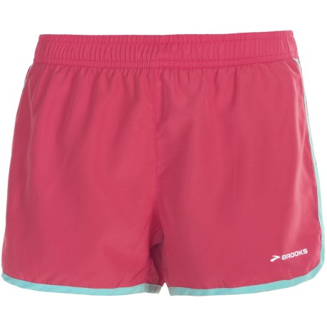"Brooks Versatile Woven Shorts - 3.5"" (For Women) in Black/Frost"