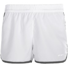 "Brooks Versatile Woven Shorts - 3.5"" (For Women) in White/Slate - Closeouts"