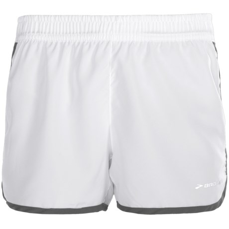 "Brooks Versatile Woven Shorts - 3.5"" (For Women) in White/Anthracite"