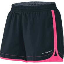 "Brooks Versatile Woven Shorts - 5"" (For Women) in Anthracite/Brite Pink - Closeouts"