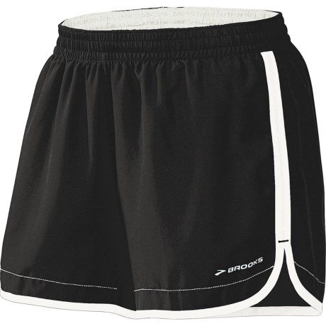 "Brooks Versatile Woven Shorts - 5"" (For Women) in Black/Frost"