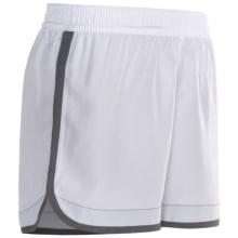 "Brooks Versatile Woven Shorts - 5"" (For Women) in White/Slate - Closeouts"