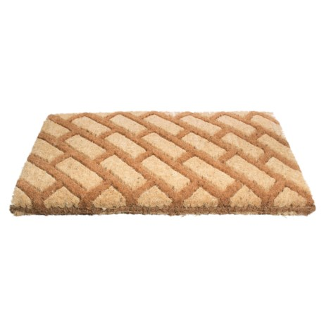 Image of Brown Diagonal Block Coir Door Mat - 18x30?