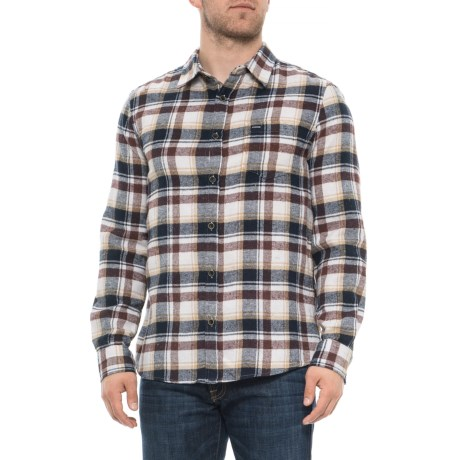 Image of Brown Flannel Shirt - Long Sleeve (For Men)