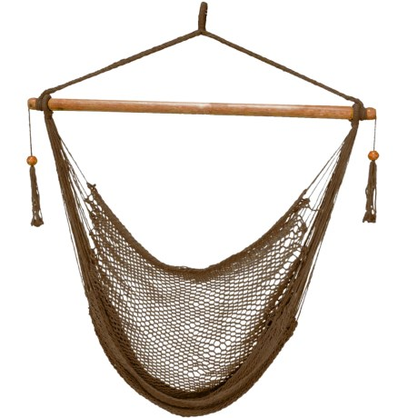 Image of Brown Island Rope Hammock Chair