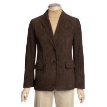 Brown Suede Blazer (For Women) in Brown - 2nds